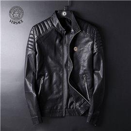 Куртка кожаная мужская VERSACE черная