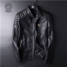 Куртка кожаная мужская VERSACE черная арт 5062