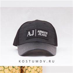 Кепка мужская Armani Jeans черная плотная арт 2305