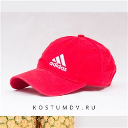 Кепка Adidas ярко красная на лето артикул 2310