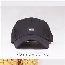 Черные кепки Томми Хилфигер с лого по центру арт 2314
