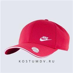 Кепка Nike мужская широкий козырек красная с белым логотипом свуш 2317