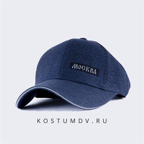 Бейсболки с логотипом Москва темно синие мужские артикул 2318