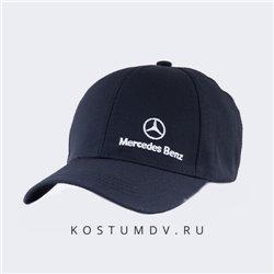 Кепки автомобильные Мерседес черные с белым лого артикул 2319