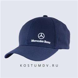 Синяя кепка Мерседес Бенц в подарок мужчине арт 2320