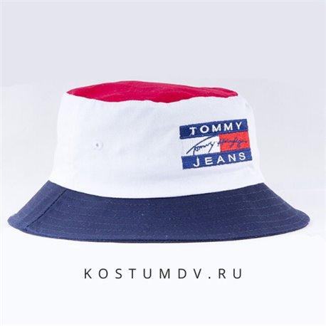 Мужская панама Tommi Hilfiger белая с синим и красным цветом материал хлопок 2324