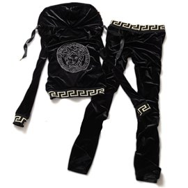 Versace велюр версаче одежда черная