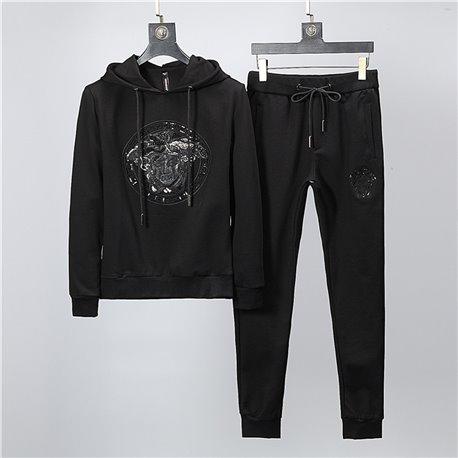 Черная кофта с капюшоном Versace со штанами черные