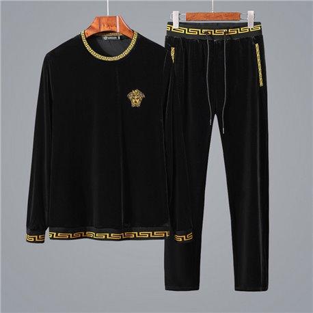 Черный велюровый спорт костюм VERSACE 2019