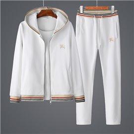 Белый повседневный мужской спорт костюм Барберри арт 3338