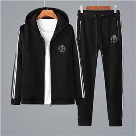 Спортивный костюм для мужчин Giorgio Armani черный хлопок