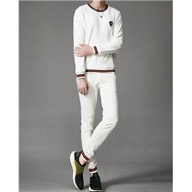 Белый легкий костюм Гуччи мужской хлопковый