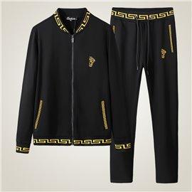 Спортивный костюм для мужчин Versace по классике черно золотой