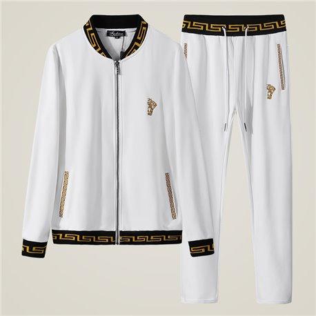 Белый повседневный спорт костюм Versace мужской
