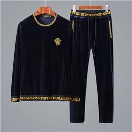 Мужской спорт костюм Версаче темно синий VERSACE 2019