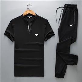 Купить черный спорт костюм Emporio Armani штаны с футболкой