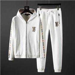 Белый велюровый спортивный костюм с капюшоном BURBERRY 3451