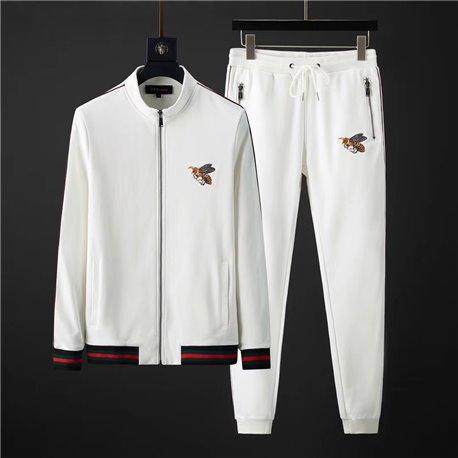 Белый хлопковый костюм для мужчин Гуччи