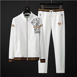 Хлопковый белый костюм итальянской фирмы Versace без капюшона арт 3456