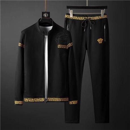 Спортивный костюм мужской итальянской VERSACE 3457 черного цвета