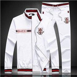 Белый трикотажный спортивный костюм GUCCI 3458 без капюшона