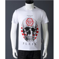 Мужская белая футболка PP с черепом арт 6672