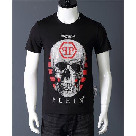 Черная мужская футболка с черепом Philip Plein 6671