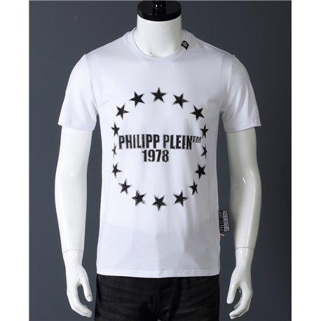 Мужская белая футболка Филип Пляйн с надписью 1978 из хлопка