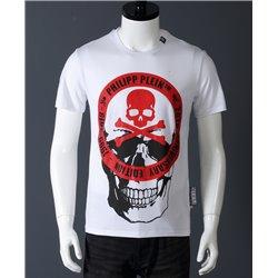Белая футболка Филип Пляйн с черепом арт 6669