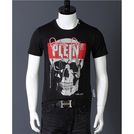 Черная футболка PP с черепом 20 лет юбилей бренда