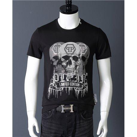 Филип Плейн limited edition черных футболок с черепами