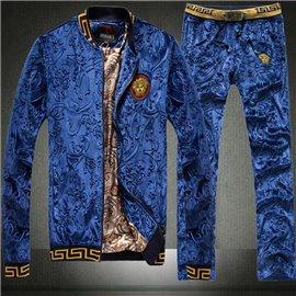 Костюм Versace из велюра цвет синий сапфир