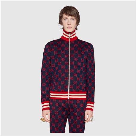 Бордовый спортивный костюм Гуччи мужской без капюшона 4456