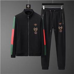 Хлопковый спорт костюм черный Гуччи мужской арт 4501