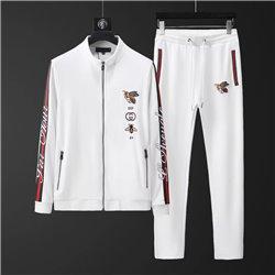 Трикотажный спорт костюм Gucci мужской белый артикул 4503