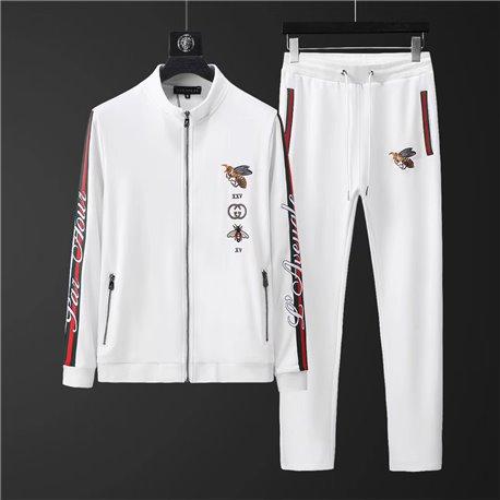 Трикотажный спорт Gucci мужской белый артикул 4503