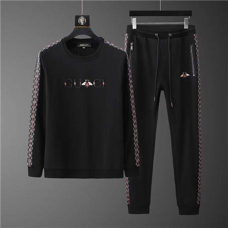 Мужской черный костюм с джемпером Гуччи из хлопка арт 4505