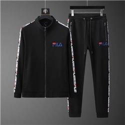 Спортивный костюм черный Fila с курточкой на молнии арт 4507