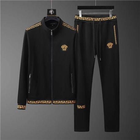 Черный хлопковый костюм Versace с Медузой на молнии арт 4510