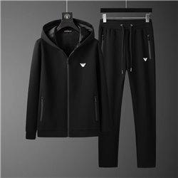 Черный костюм Армани больших размеров со штанами прямого кроя 4516
