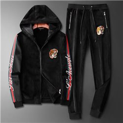 Купить мужской спорт костюм Гуччи куртка на замке с капюшоном арт 4530