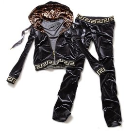 Темно серый велюровый спортивный костюм женский фирмы Versace
